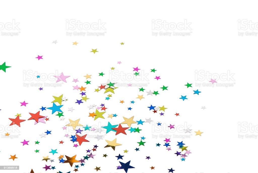 Star Confetti stock photo