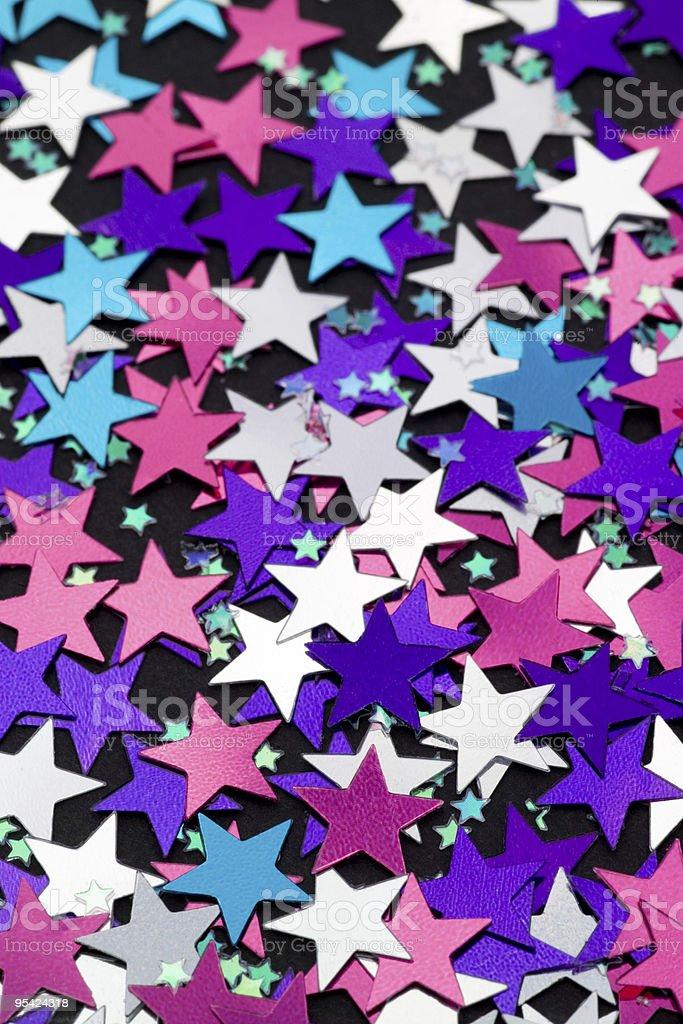 Star-Konfetti Lizenzfreies stock-foto