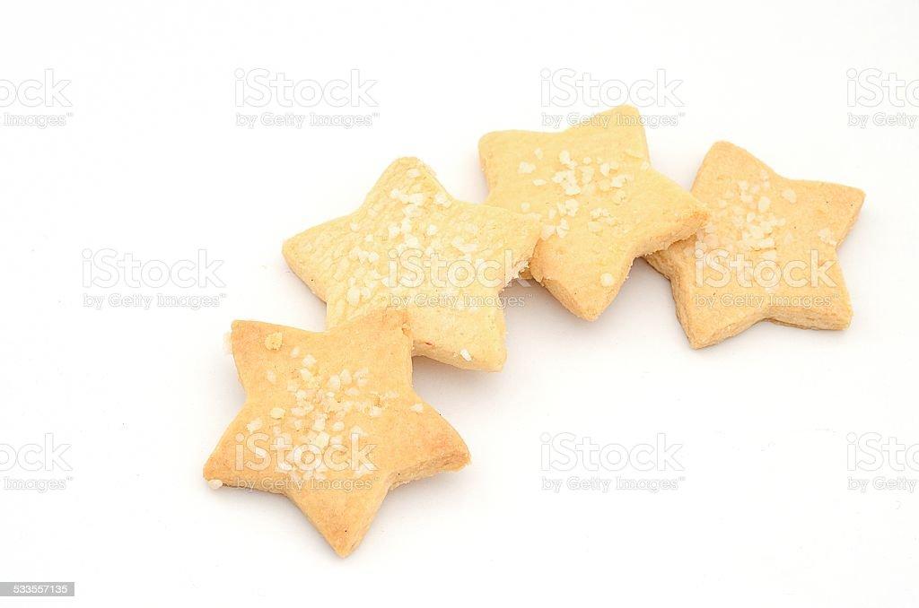 star cookie in coffee break time stock photo