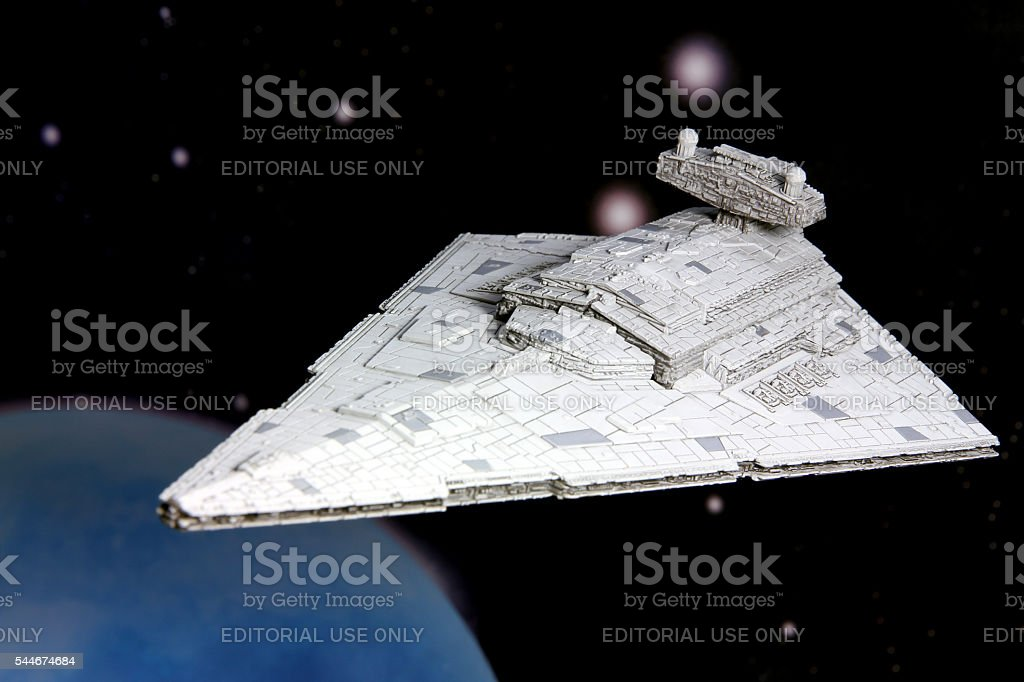Star Destoyer in Orbit stock photo