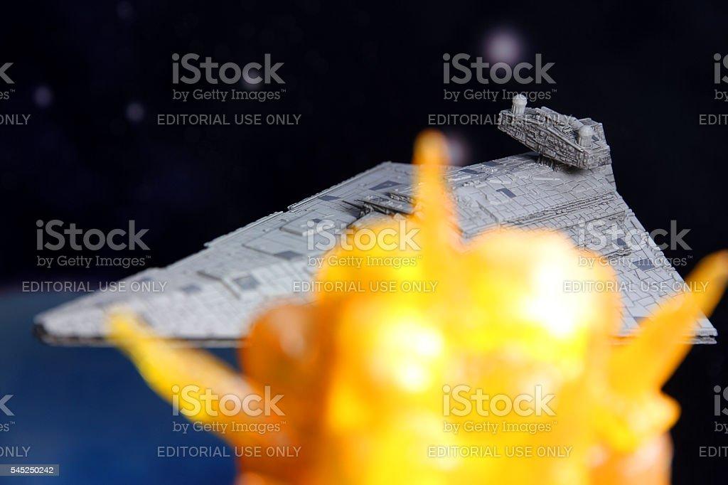 Star Destroyer Explosion stock photo