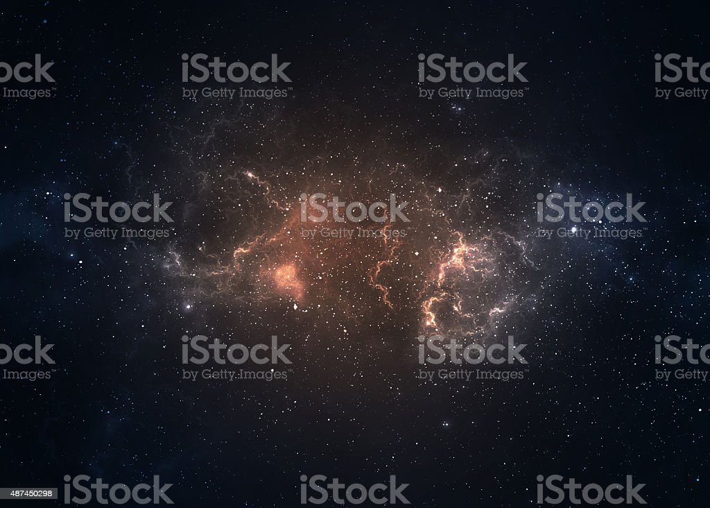 Star field in  deep space many light years far from stock photo
