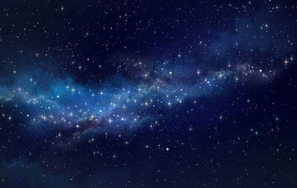 Star field in outer space stock photo