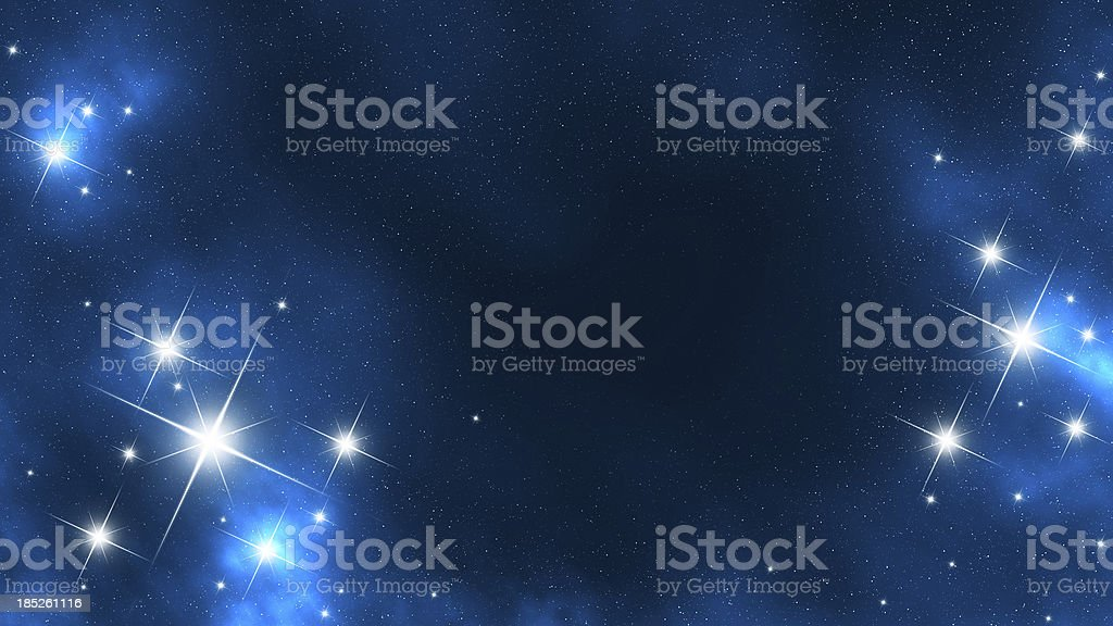 Star Frame in Space Digital Generated Image16:9 Space Scenes: Abstract Stock Photo