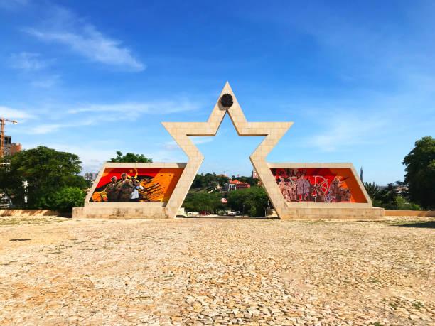 Star gate at Sao Miguel Fortress Luanda Angola stock photo