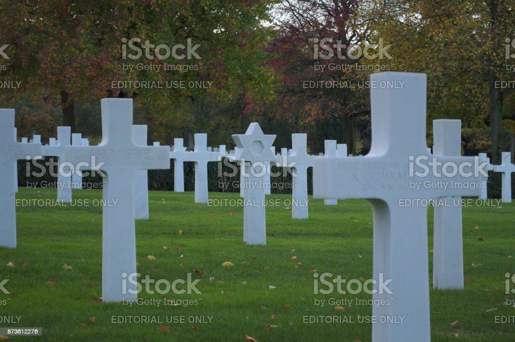 Star headstone stock photo