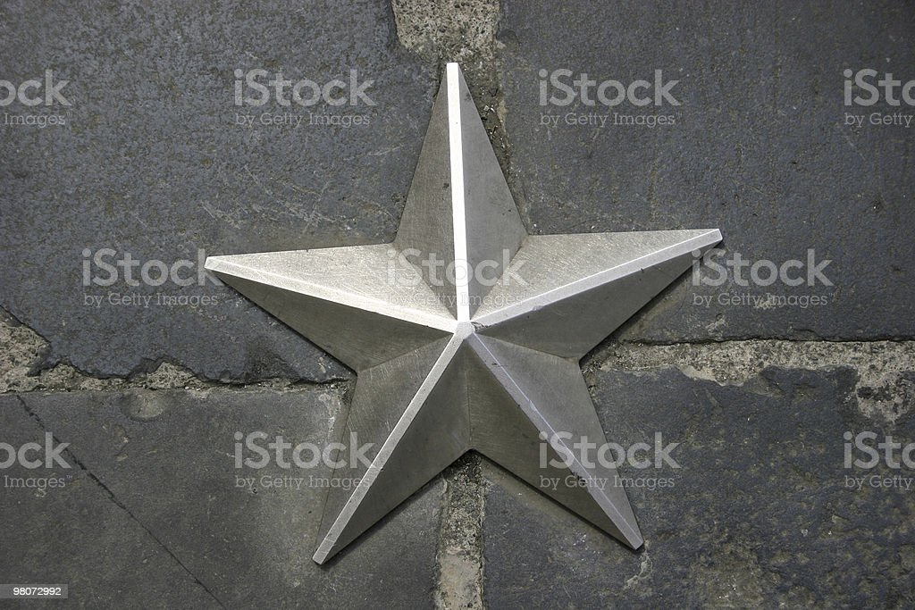 Star in Rome royalty-free stock photo