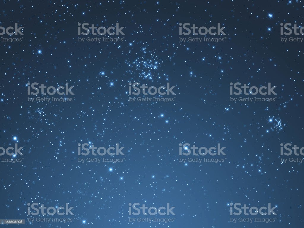 Star in the Milky Way stock photo