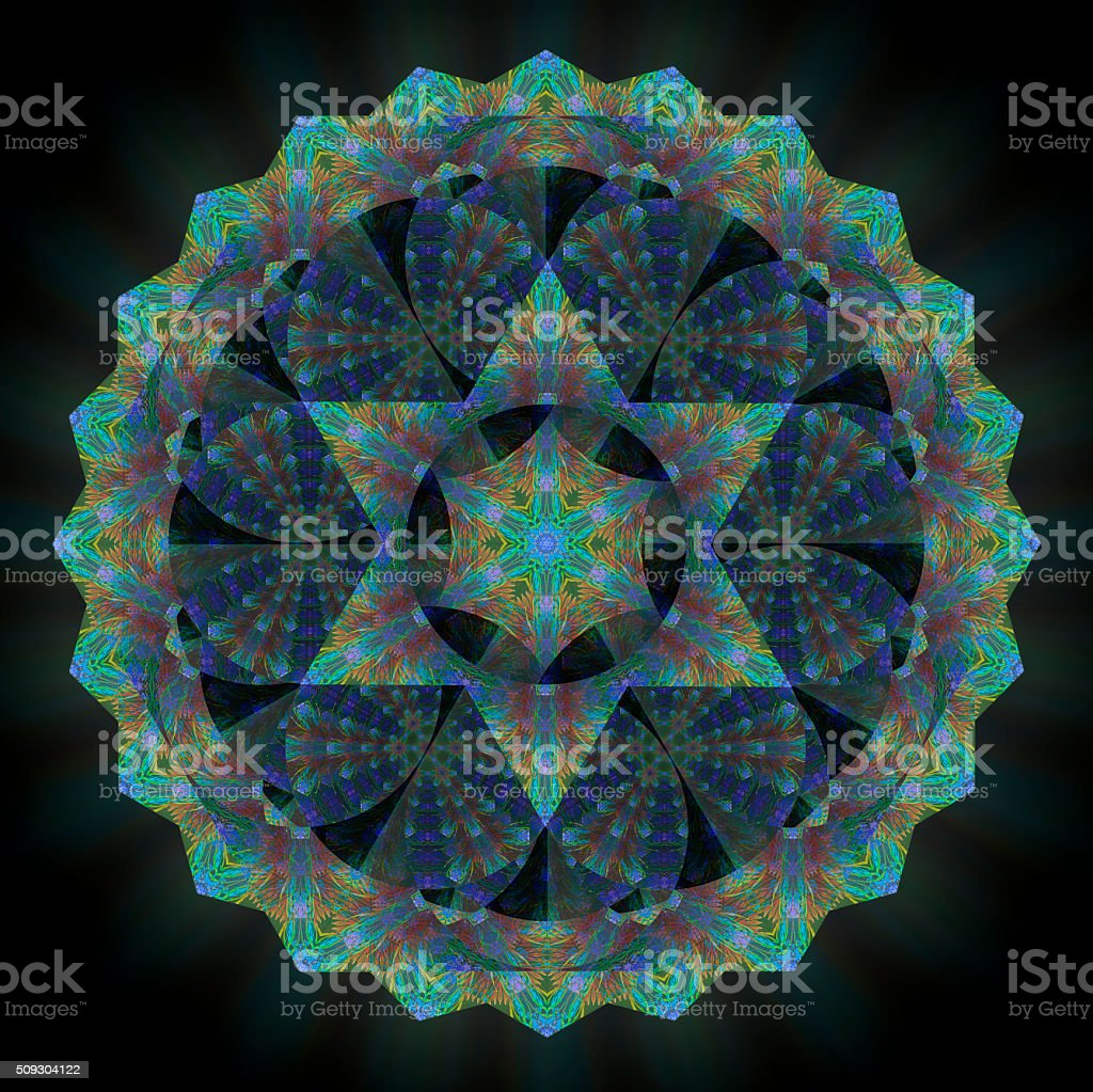 Star Mandala stock photo