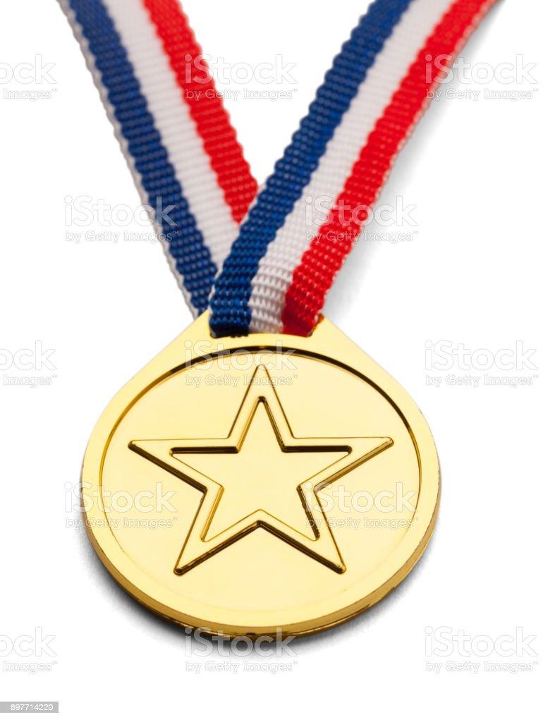 Star Medal stock photo