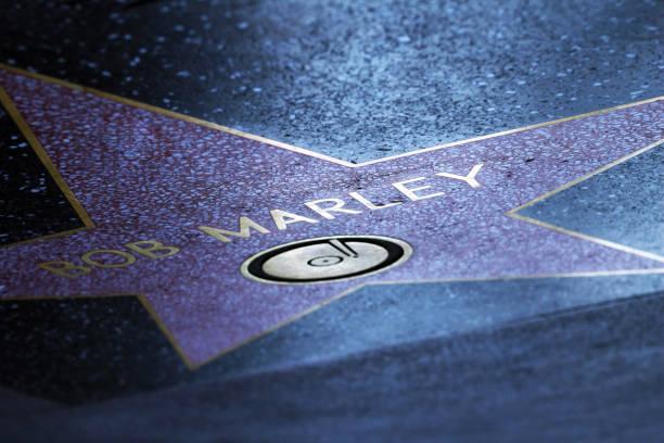 Stern von Bob Marley auf dem Bürgersteig der Walk of Fame in Hollywood – Foto