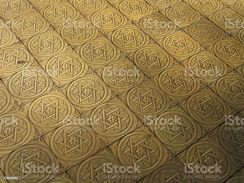 Star of David engraved in stone - Judaism stock photo