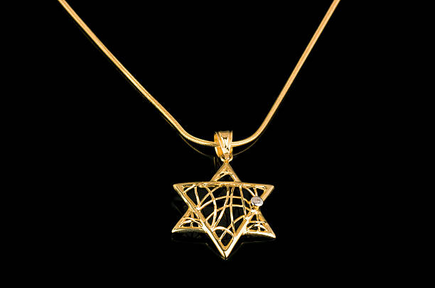 Royalty free white gold pendant settings pictures images and stock star of david gold pendant on black reflective background stock photo aloadofball Gallery
