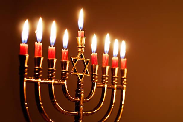 star of david hanukkah menorah - hanukkah stock pictures, royalty-free photos & images