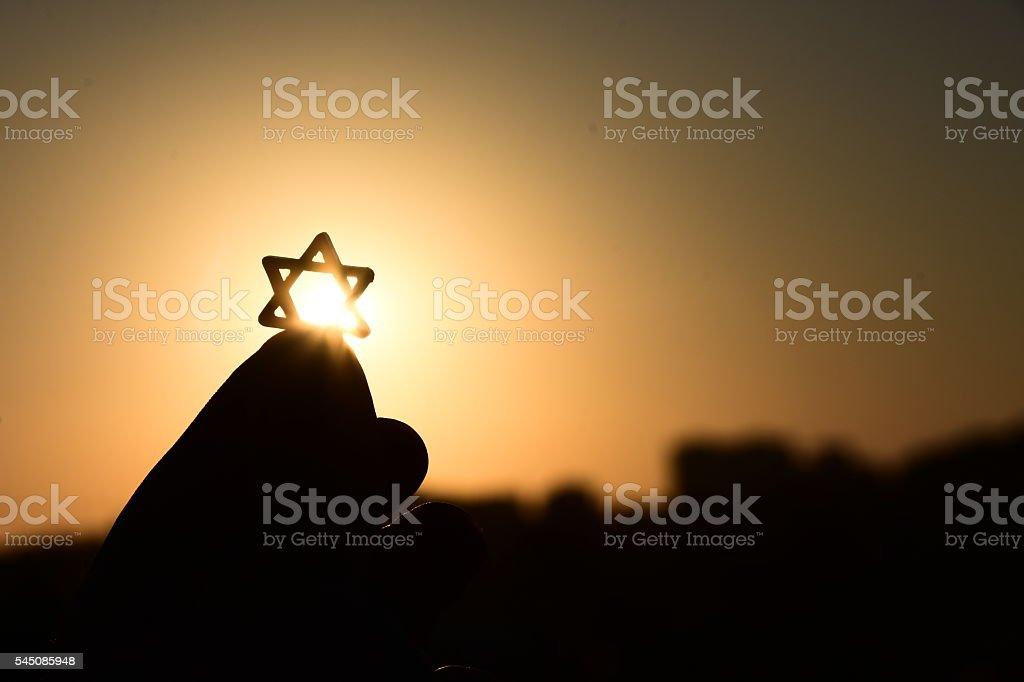 Star of David Silhouette stock photo