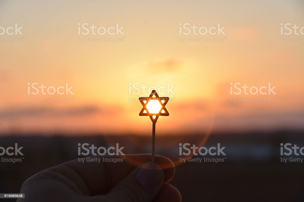 Star of David Silhouette stock photo