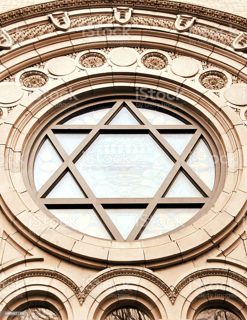 Star of David window royalty-free stock photo