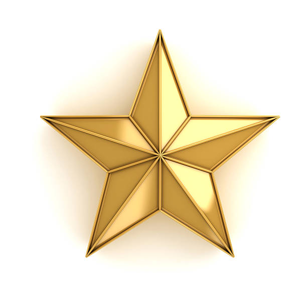 Star of gold stock photo