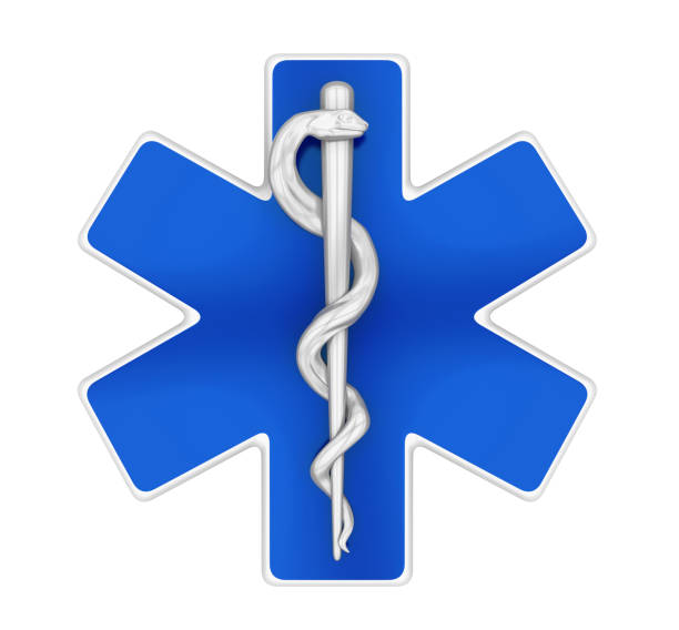 star of life symbol isolated - caduceus stock pictures, royalty-free photos & images