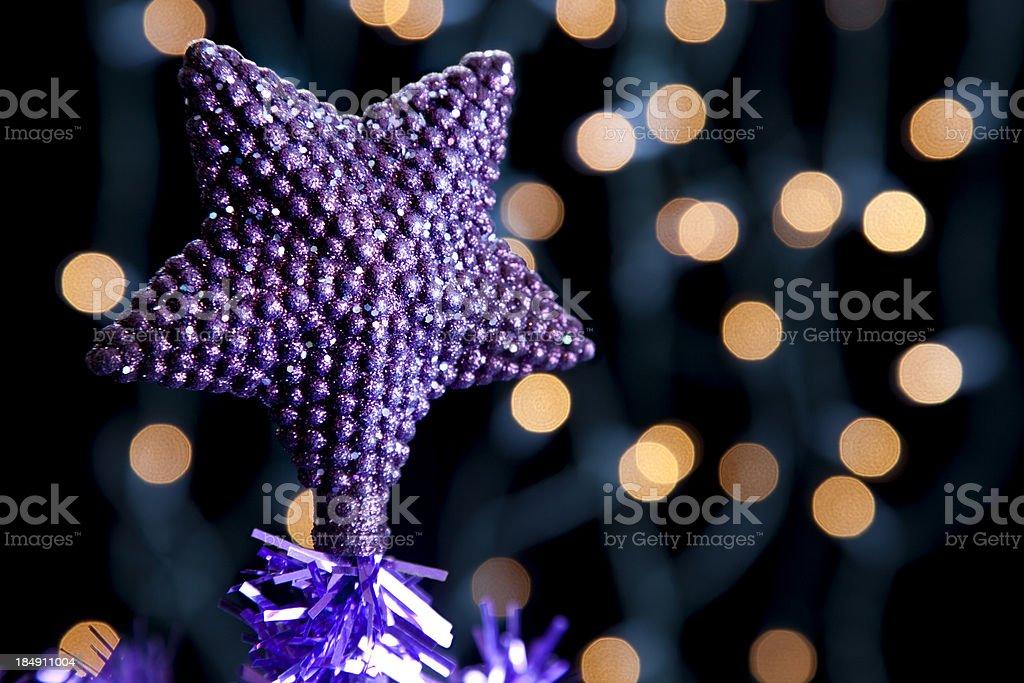 Star on a Christmas Tree royalty-free stock photo