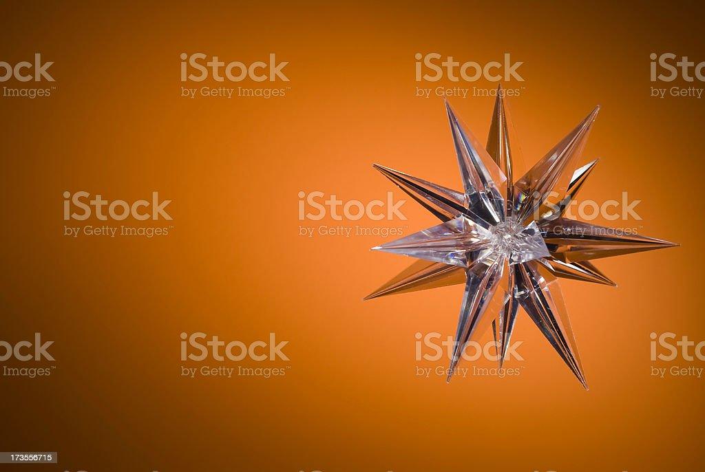 Star on orange royalty-free stock photo