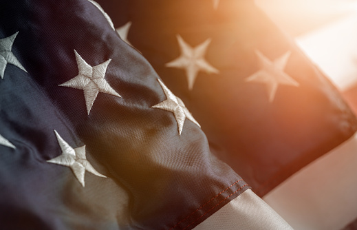 istock Star on the american flag 1138612714