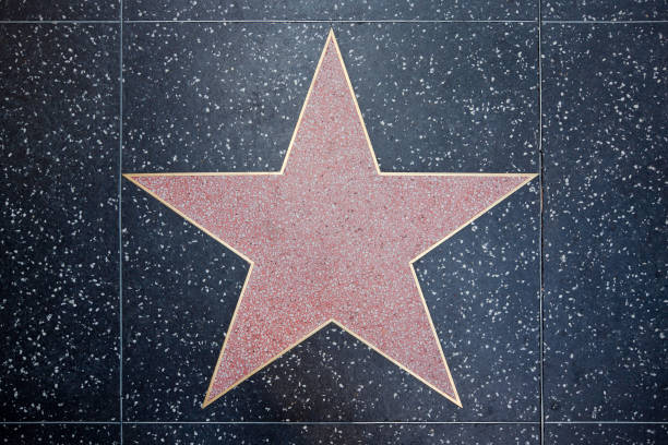Star on the Walk of Fame stock photo