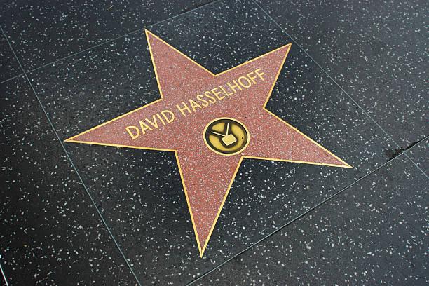 sterne am walk of fame - david hasslehoff stock-fotos und bilder