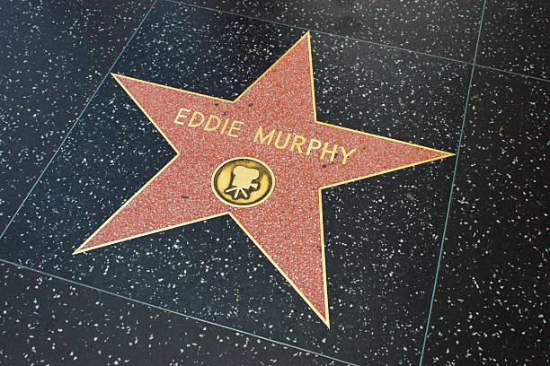 sterne am walk of fame - eddie murphy filme stock-fotos und bilder