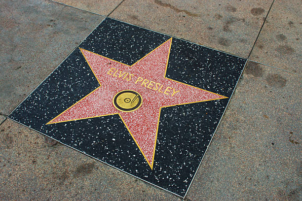 star on walk of fame - elvis stock photos and pictures