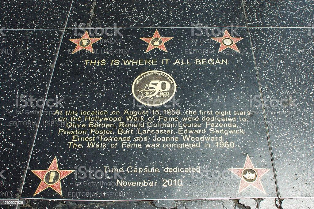 Stelle sul Walk of Fame - foto stock