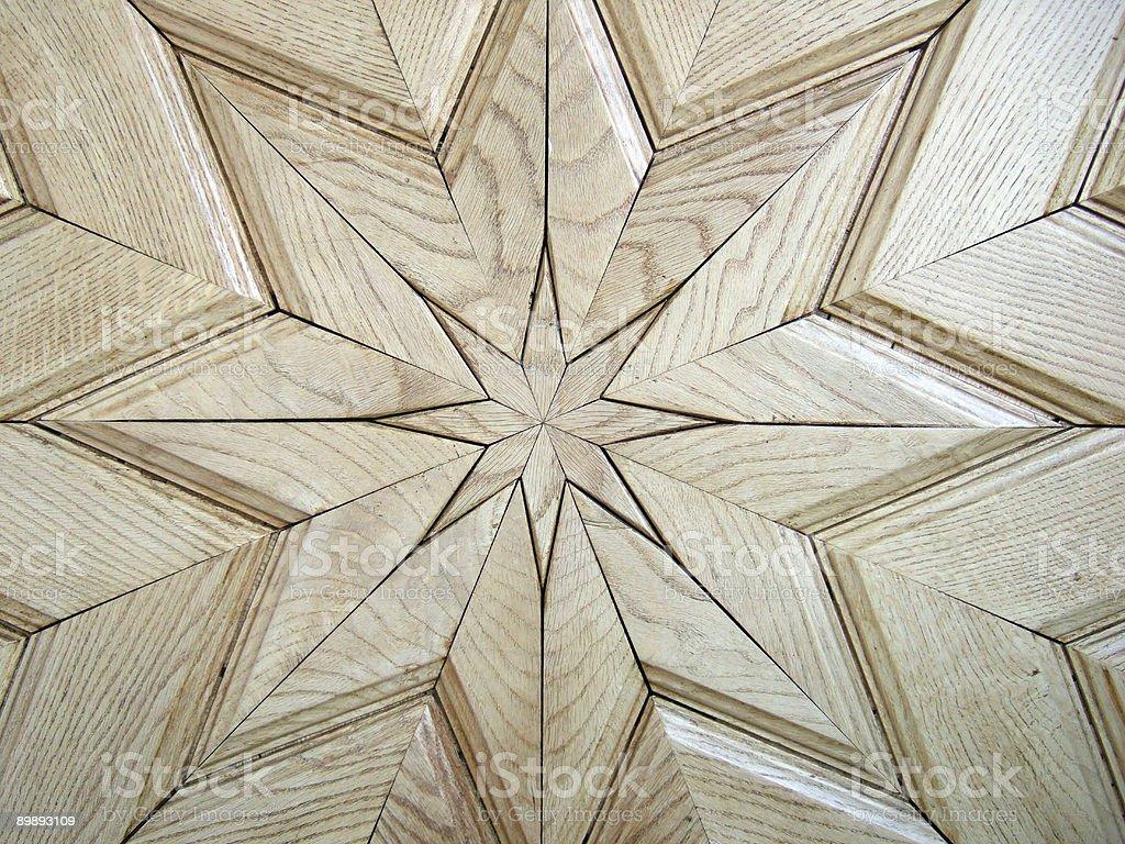 Star Pattern on Wooden Door royalty-free stock photo