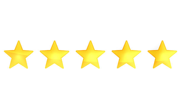 star rating zero up to five 3d render - five objects stock pictures, royalty-free photos & images