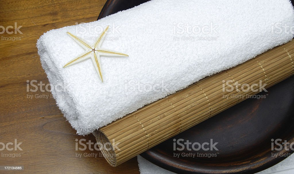 star roll pampering with bamboo royalty-free stock photo