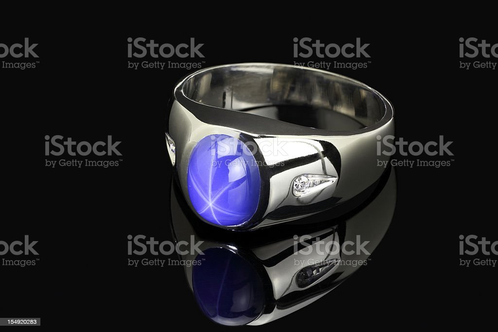 Star Sapphire Ring royalty-free stock photo