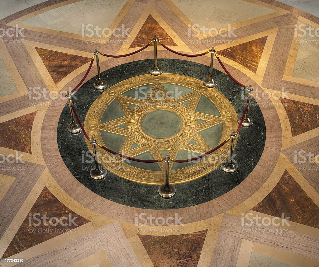 Star Seal of MN State Capitol Rotunda stock photo