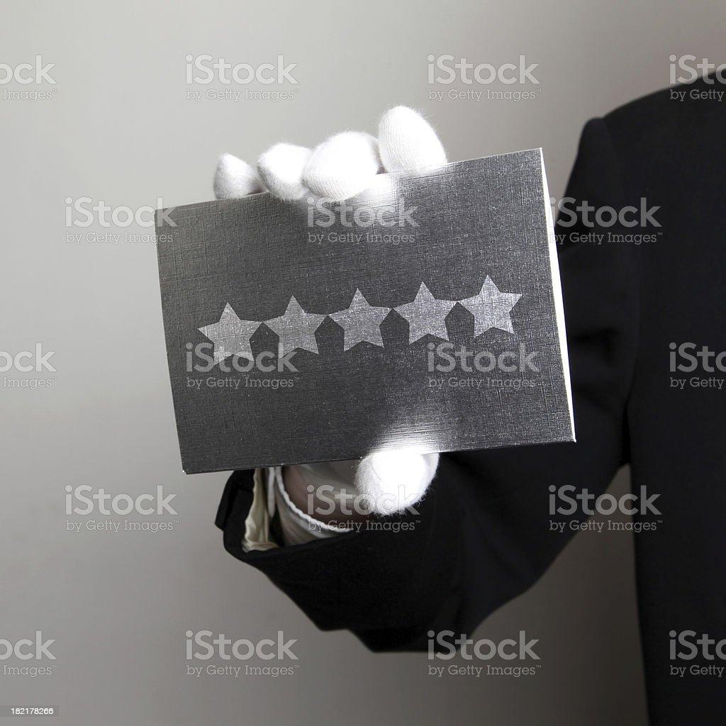 5 Star Service stock photo