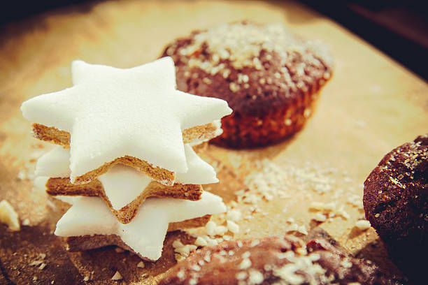 Star Shape and muffin stock photo