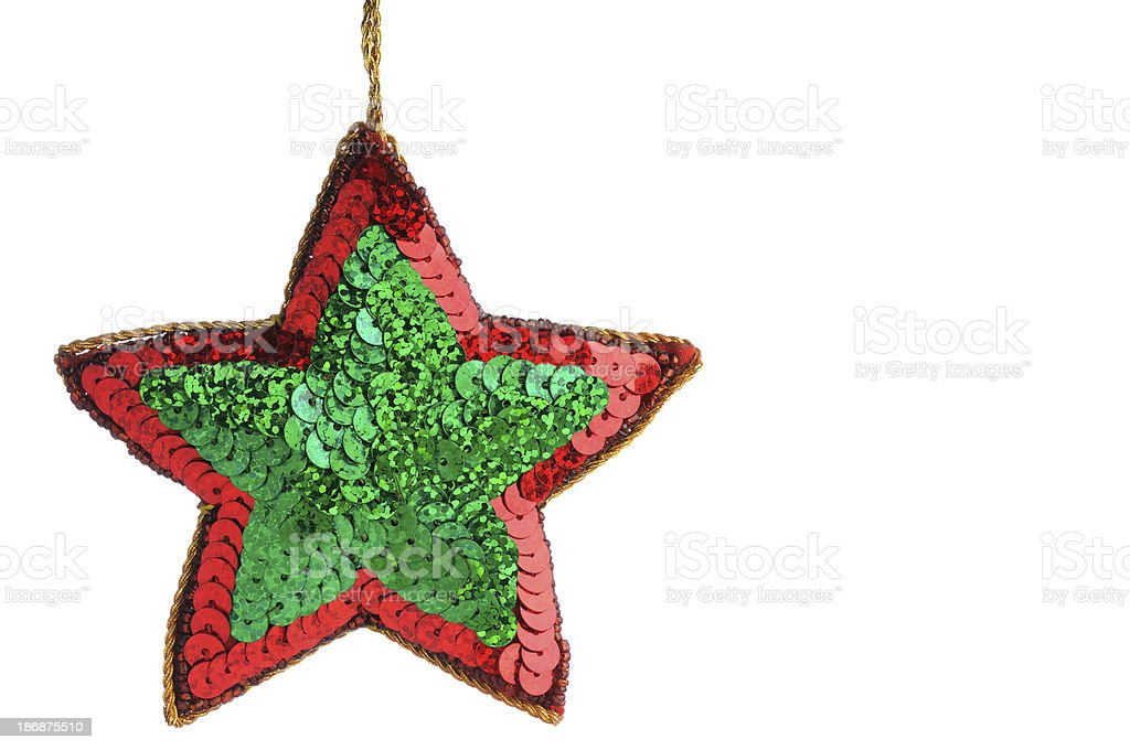 Star shape christmas decoration royalty-free stock photo