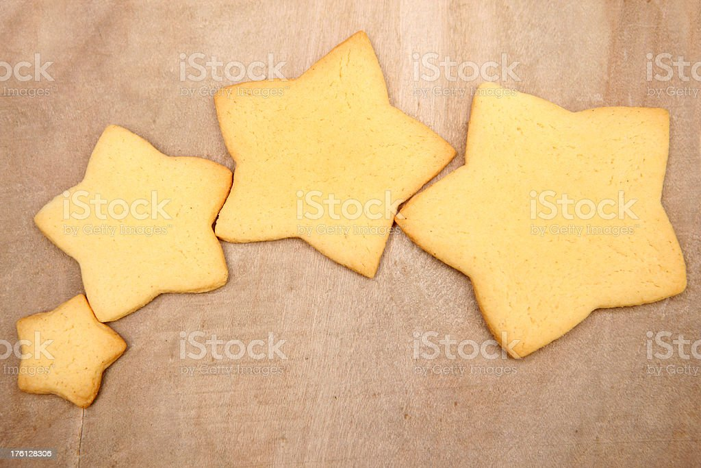 Star Shape Cookies royalty-free stock photo
