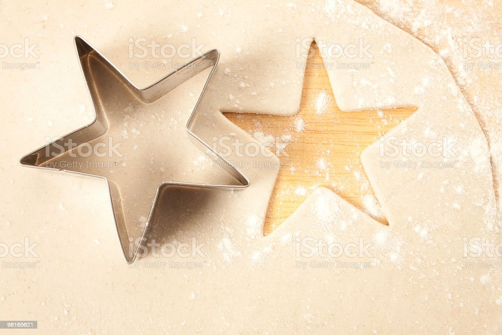 Star Shape in Pastry royalty-free stock photo