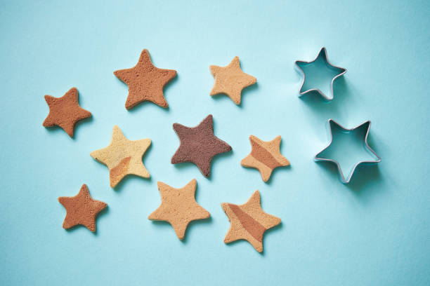 Star shape paper clay Star shape paper clay cookie cutter stock pictures, royalty-free photos & images