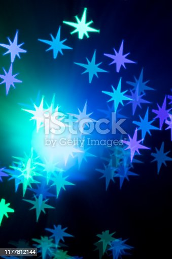 1047386704istockphoto Star shaped bokeh - Christmas background 1177812144