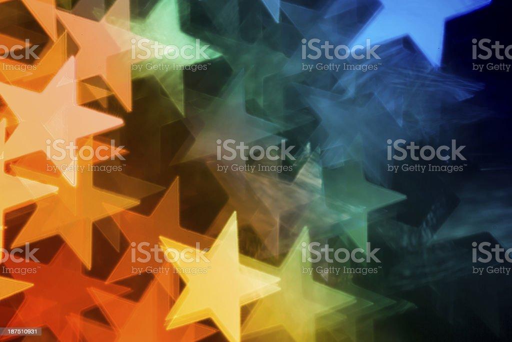 En forme flou Bokeh lumières de Noël, arrière-plans colorés abstraits - Photo