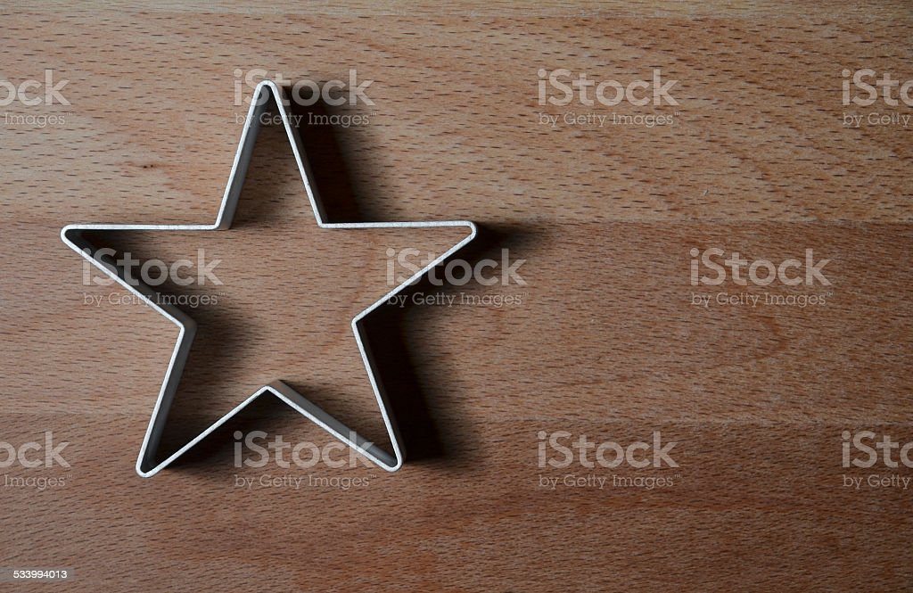 star shaped food ring mold stock photo