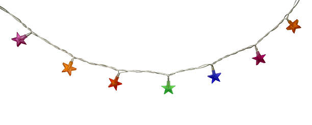 Star shaped latern isolated on white stock photo