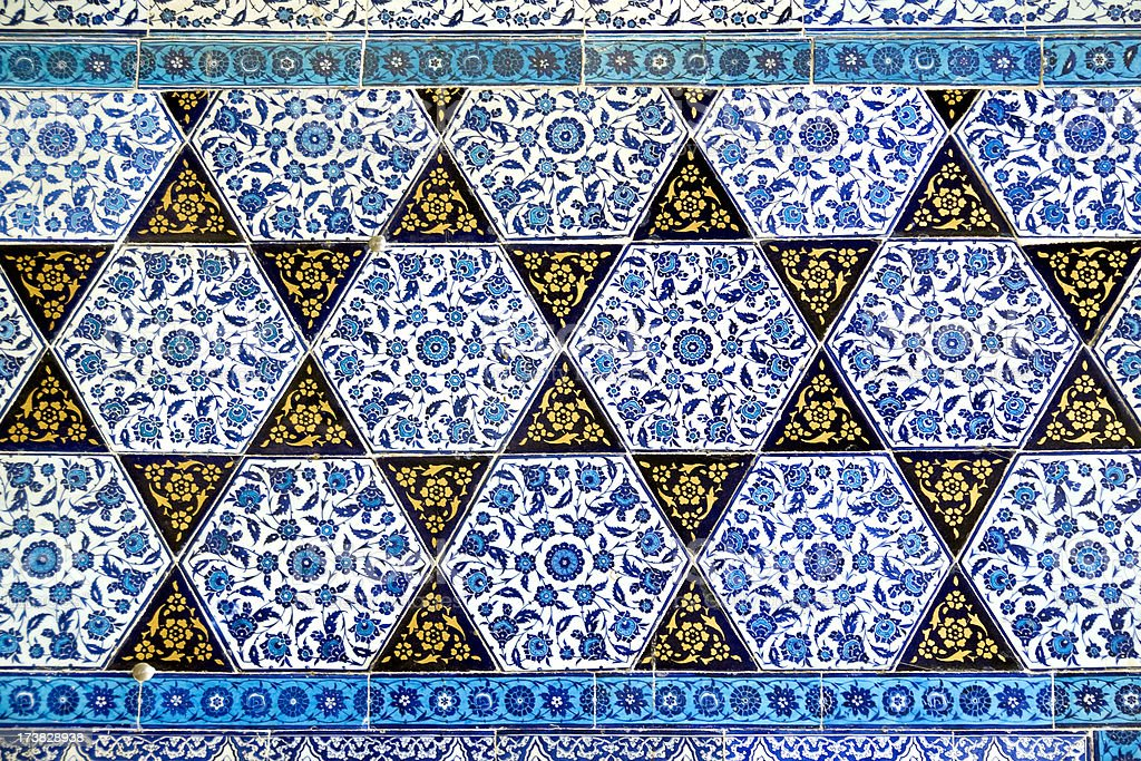 Star shaped tiles royalty-free stock photo