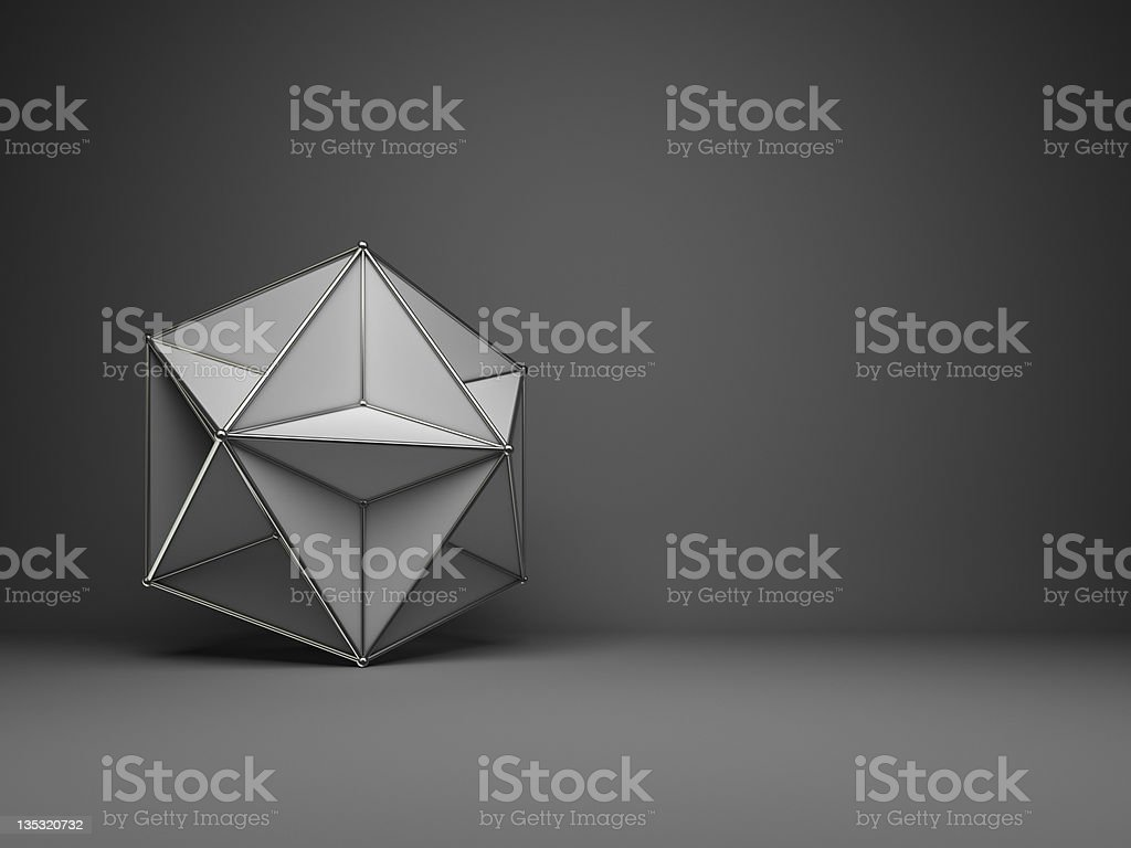 star shapes with infinity optical illusion effect stock photo