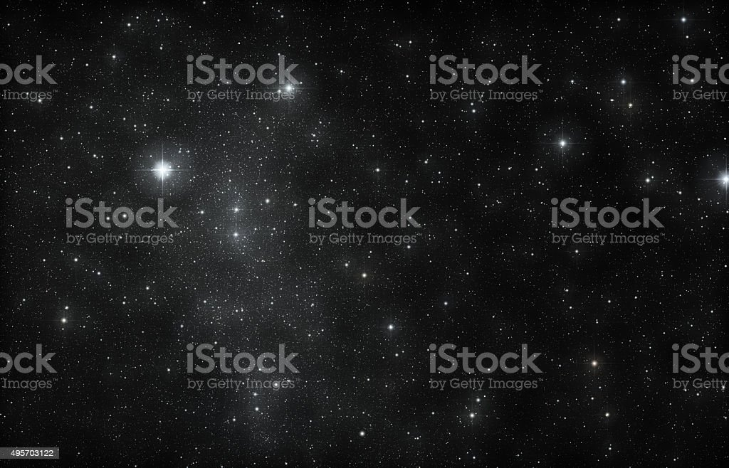 Star sky stock photo