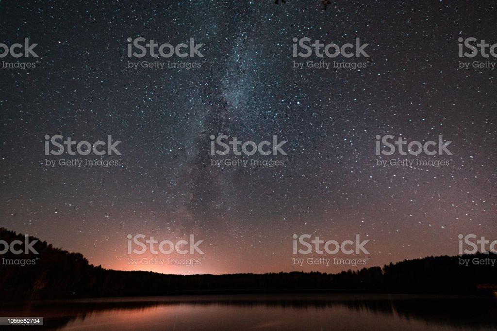 star sky with a milky way – zdjęcie